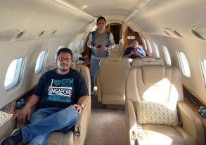 Interior Pesawat Jet Pribadi